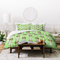 Lisa Argyropoulos Pineapple Jungle Green Duvet Cover