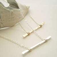 The Everyday Necklace Hammered Sterling Silver by BeauAndStella