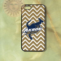Akron Zips Chevron-iPhone 5, 5s, 5c, 4s, 4 case,Ipod touch 5, Samsung GS3, GS4 Rubber or Hard Plastic Case, Phone cover