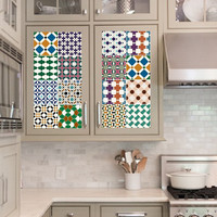 Vinyl decal sheet - Tile Decals - Tile decals for Kitchen or Bathroom Mexico, Morocco, Portugal, Spain, Mosaic #9