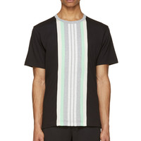 Y-3 Black And Heather Grey Band Short Sleeve T-shirt