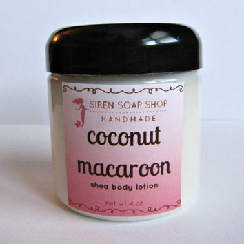 Coconut Macaroon Body Lotion, Shea Lotion, Coconut