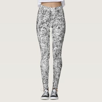 Willow tree leaves. Abstract art of Nature Leggings