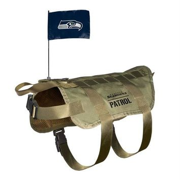 LMFON Seattle Seahawks Pet Tactical Vest