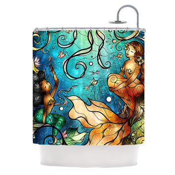 "Mandie Manzano ""Under the Sea"" Mermaids Shower Curtain"