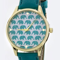 Elephant Print Dial Fashion Watch