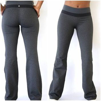 Lululemon Pants Gray Yoga/fitness Pants Reversible Size 4