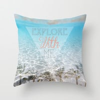 Tropical Exploration  Throw Pillow by Sunkissed Laughter
