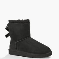 Ugg Mini Bailey Bow Womens Boots Black  In Sizes