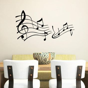 Music Say Quote Word Lettering Decal Wall Sticker