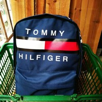 TOMMY HILFIGER: Casual Sport Laptop Bag Shoulder School Bag Backpack H Z