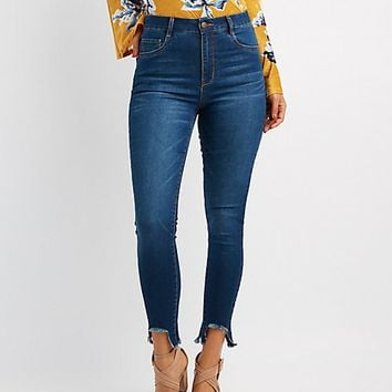 Refuge High-Rise Frayed Hem Jeans