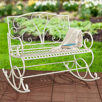 Outdoor Metal Rocking Benches