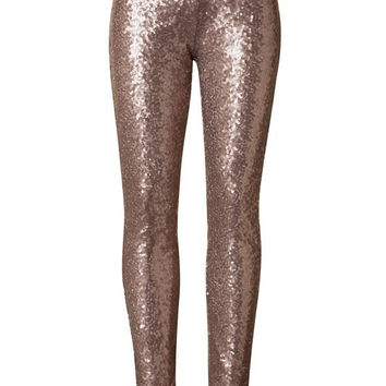 Glitter Bomb All Over Sequin Pants - Gold Champagne RESTOCKED!