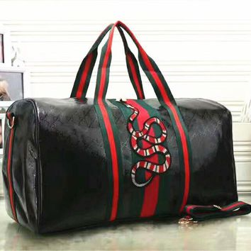 Gucci Fashion Women Embroidery Leather large Capacity Luggage Travel Bags Tote Handbag G-LLBPFSH-3