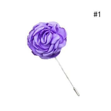 Women  Accessories Lapel Flower  Handmade Boutonniere Stick Brooch Pin Wedding
