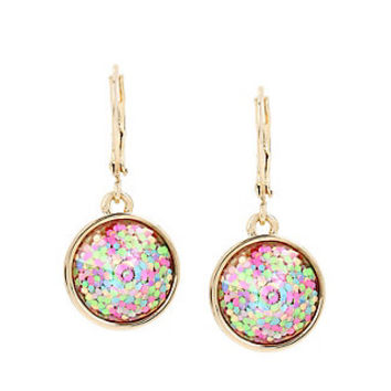 BUZZ OFF GLITTER DROP EARRINGS: Betsey Johnson