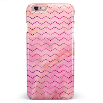The Pink Watercolor Paint Blend with Multicolor Chevron  iPhone 6/6s or 6/6s Plus INK-Fuzed Case