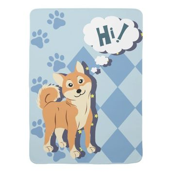 Thoughtful Shiba Inu Baby Blanket