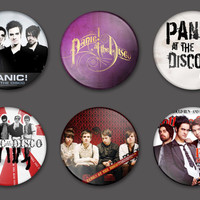 Panic! At The Disco Pinback Buttons Pins Badges