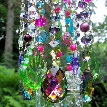 Gypsy Crystal Wind Chime by sheriscrystals on Etsy