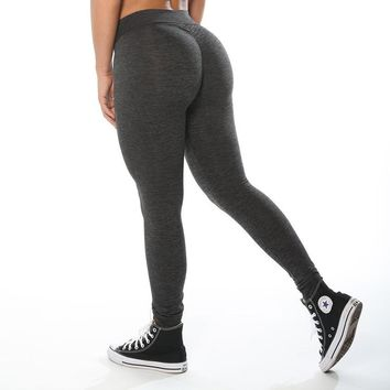 Sexy Solid Women Elastic Breathable Legging