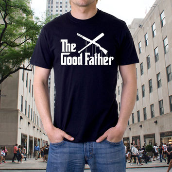 Funny Tees The Good Father Rifle Gun The Godfather Parody T-Shirt Cool Tee Positive Shirts Modern Design Urban Graphic Men Adult Cotton