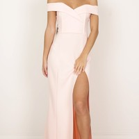 One For The Money dress in blush Produced By SHOWPO