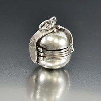 Vintage Silver Accordion Fold Out Ball Locket