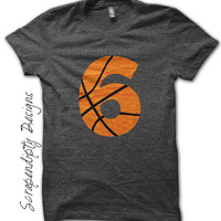 Basketball Number Iron on Transfer - Iron on Custom Basketball Shirt / Sport Birthday Party / Dad Customized Tshirt / Digital Design IT454-C
