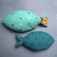 Stuffed animal fish, cuddly toy, children room decor, children pillow, teenager decor, aqua and blue