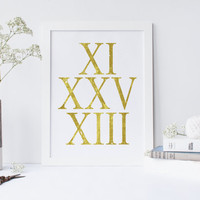 Art Print Custom Date Choose Your Date Typography Personalized Anniversary Gift Numbers,Custom Anniversary Roman Numerals gift for her,decor