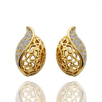 Chloe Crystal Gold Plated Earring