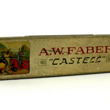 c.1906 A.W. Faber & Castell  Lithographed Tin Pencil Case and Pencils