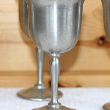 Colonial Pewter Boardman Cordial Goblets set of 6