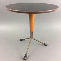Albert Larsson Danish Mid Century Modern Tripod Side Table 1950's Eames Era