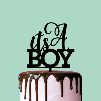 Baby Shower Cake Topper, It's A Boy, Cake Topper, Baby Shower, Gender Reveal Party