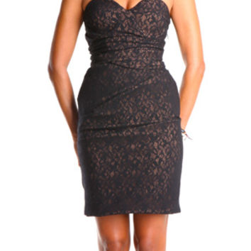 Preen Lauren Dress in Black Lace