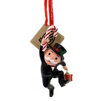 Holiday Ornaments MR MONOPOLY W/CANDY CANE Polyresin Hasbro 4057985