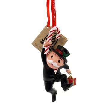 Holiday Ornaments Mr Monopoly W/Candy Cane Resin Ornament