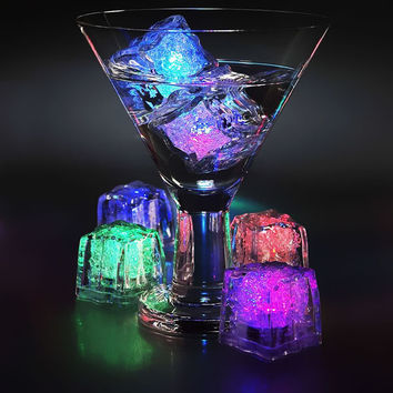 Color Changing LED Ice Cubes (Set of 4)