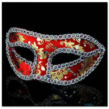 ICIKF4S 10pcs/lot Unisex Halloween Party Mask With Eyeline Fox Half Face Masquerade Girls Masks For Female Dancing Wear Cosplay
