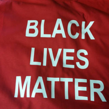 Black lives matter t-shirt red tee ,protest stop shooting tshirts police 911 help, Eric Garner shirt