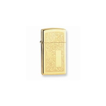 Zippo Venetian High Polish Brass Lighter - Engravable Personalized Gift Item