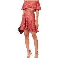 Alexis Braxten Flounced Lace Skirt - INTERMIX®