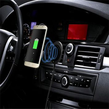 Overmal Cell Phone Accessories Car Mount Qi Wireless Charger Vehicle Dock Charging Stand For Samsung Galaxy S8#30