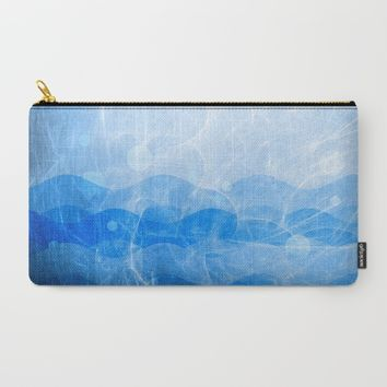 Energy Waves - Blue Version Carry-All Pouch by Adaralbion