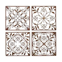 Square Metal Wall Decor (Set of 4) | Overstock.com Shopping - The Best Deals on Accent Pieces