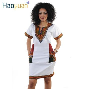 S-3XL Women Summer Bodycon Dress 2017 Robe Sexy Casual Sundress Party Plus Size Clothing Vintage African Print Dashiki Dresses