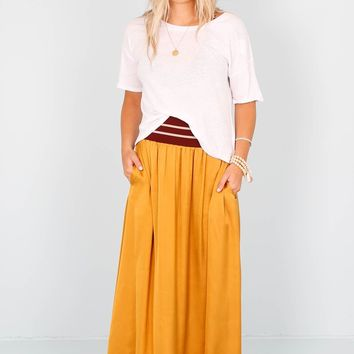 SCOTCH & SODA | Waistband Maxi Skirt - Gold